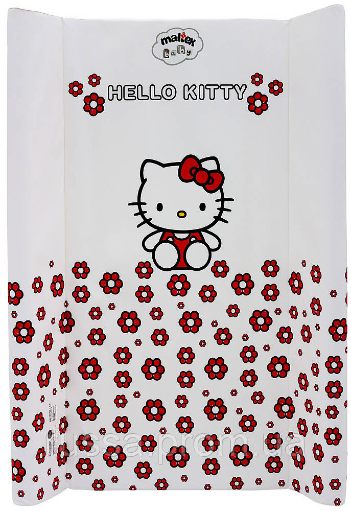 Пеленальный матрас Maltex мягкий 50х80 см  hello kitty, белый