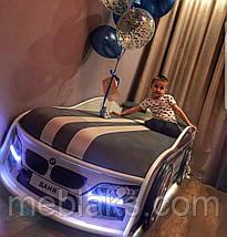 Кровать машина БМВ Белая Mebelkon, фото 2