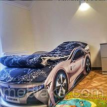 Кроватка машина БМВ space серая Mebelkon, фото 3