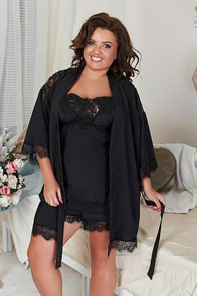 """Домашний женский комплект-пижама """"LACE"""" с кружевом (большие размеры), фото 2"""