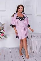 """Домашний женский комплект-пижама """"Caress"""" с кружевом (большие размеры), фото 2"""