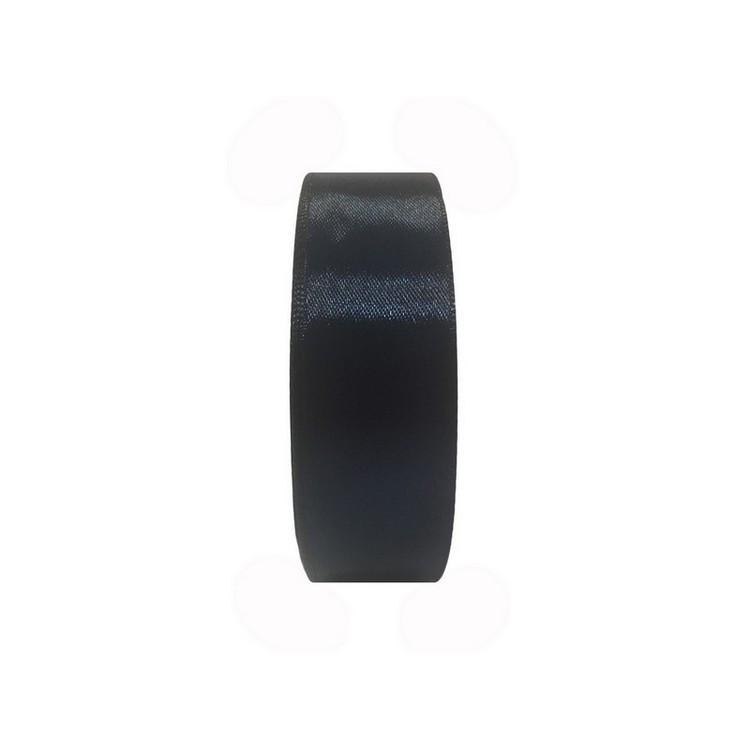 Лента атласная 25мм  цв.синий темный 058