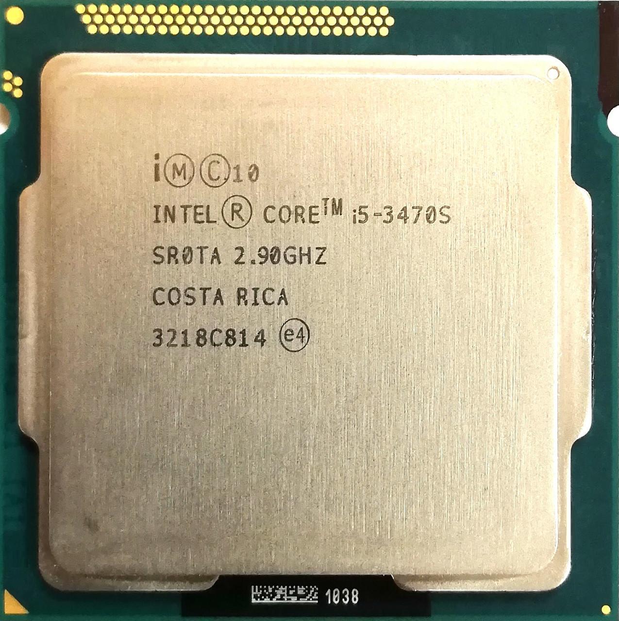 Процессор Intel Core i5-3470S N0 SR0TA 2.9GHz up 3.6GHz 6M Cache Socket 1155 Б/У