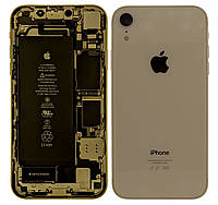Корпус iPhone XR Original 100% Silver (снятый с телефона с шлейфами и аккумулятором)