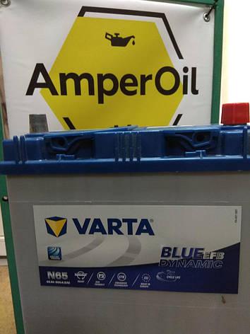 VARTA 6СТ-65 АзЕ Blue Dynamic EFB N65 ASIA 565501065 Автомобильный аккумулятор, фото 2