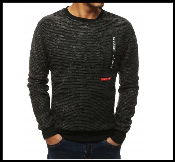 Мужской свитер на резинке m-xxl, черный