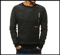 Мужской свитер на резинке m-xxl, черный, фото 1