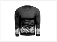 Мужская толстовка с принтом, черная, фото 1