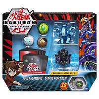 Bakugan Battle Planet: большой набор из 5 бакуганов Нобилиус и Кракелиус