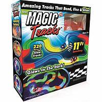 Гоночный трек Magic Tracks гоночная трасса на 220 деталей + машинка с подсветкой