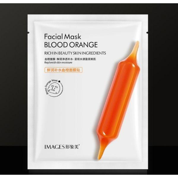 Высоковитаминная тканевая маска для лица Images Blood Orange Facial Mask c экстрактом цитруса Юдзу 25 мл