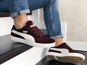 Мужские кроссовки Puma Suede burgundy. [Размеры в наличии: 40,41,42]