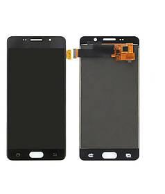 Дисплей (екран) для Samsung A510FD Galaxy A5 (2016) з сенсором (тачскріном) черный з регулюванням (TFT)