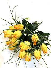 Искусственные розы с осокой., фото 2