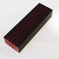 Брусок Микарта № 95390 Цвет черн красн полосатик  25х40х130мм