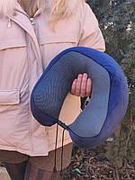 Подушка LSM для путешествий 30х28х12 темно синяя (195-24)