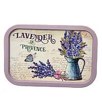 "Поднос металлический ""Lavender de provence"" (34х24х2 см.), фото 1"