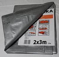 Тент тарпаулин Польша 2х3м,100г/м2 мощный с кольцами