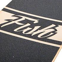 "Лонгборд Fish Skateboards 38"" - Skull & Rose (ln122), фото 3"