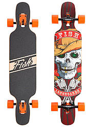 "Лонгборд Fish Skateboards 38"" - Skull & Rose (ln122)"