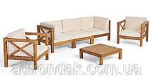 Набор садовой мебели из 6 секций с подушками