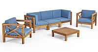 Набор садовой мебели из 6 секций с подушками, фото 1
