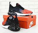 Чоловічі кросівки Nike Air Max 270 Black / Red, фото 3