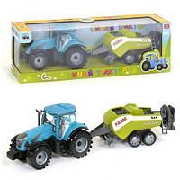 Трактор с прицепом 0488-304 CQ (36/2) звук, инерция, в коробке [Коробка] - 6965496113334 0488-304CQ