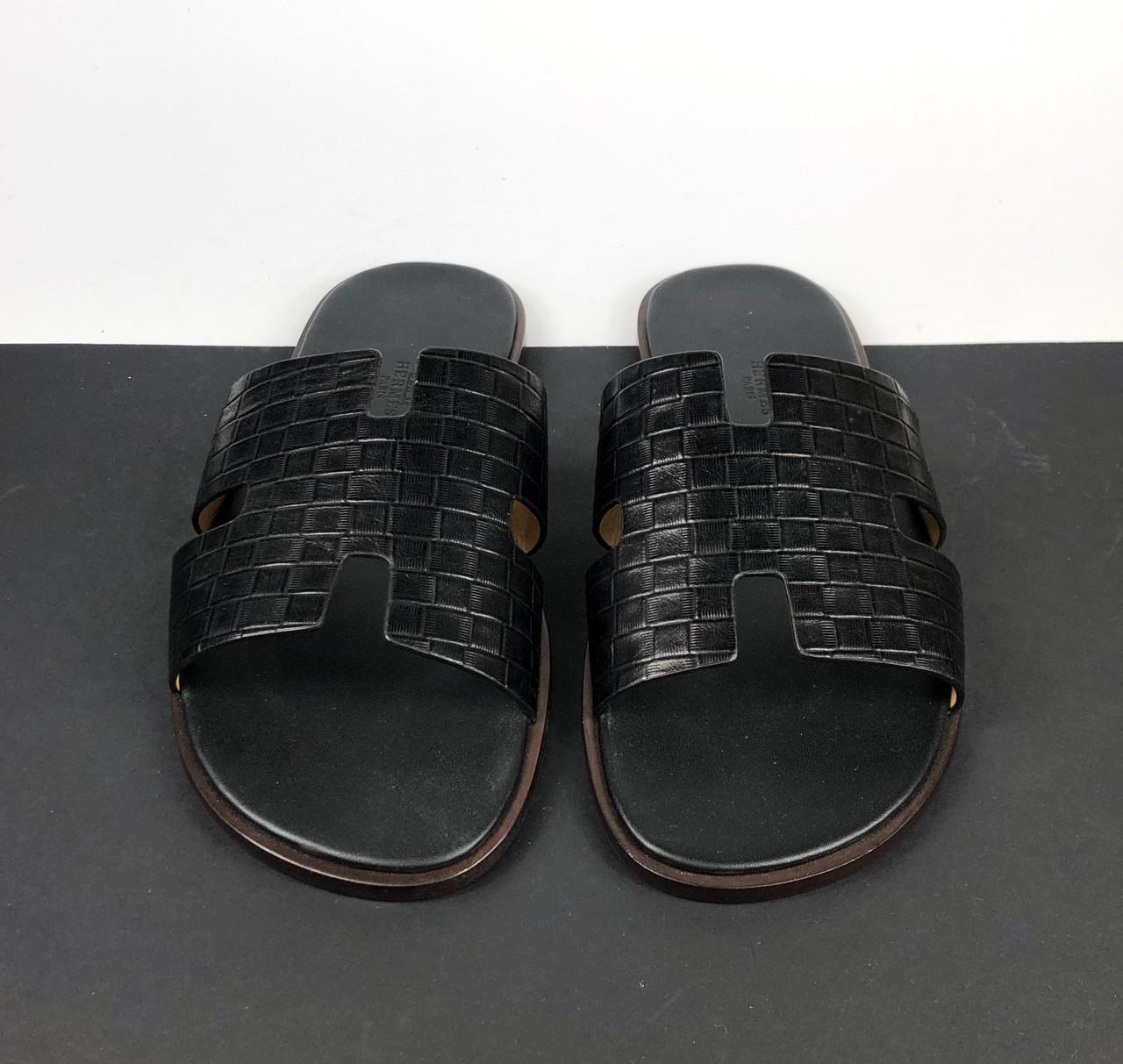 Кожаный шепанцы Hermès (Гермес) арт. 112-03