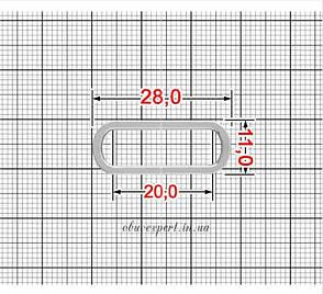 Рамка  20 мм Срібло, фото 2