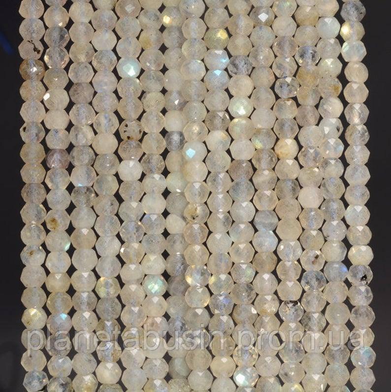 3 мм Лабрадорит, Натуральный камень, Форма: Граненый Шар, Длина: 40 см