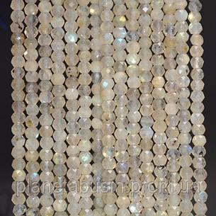 3 мм Лабрадорит, Натуральный камень, Форма: Граненый Шар, Длина: 40 см, фото 2