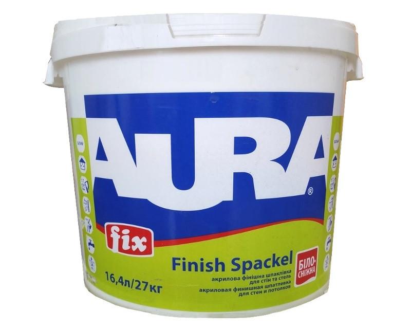Шпатлевка акриловая AURA FIX FINISH SPACKEL финишная 27кг