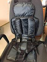 Бескаркасное детское автокресло Berry Стандарт с подголовником от 9 до 36 кг (Темно-серый)