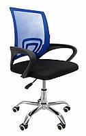 Офисное кресло операторское для персонала Bonro с каучуковыми колесами, кресло для офиса компьютерное синее