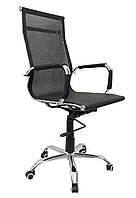 Офисное кресло компьютерное Bonro с сетчатой ткани до 120 кг для детей подростков и взрослых Черное