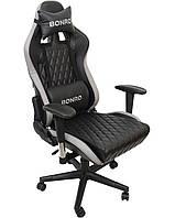 Кресло офисное компьютерное игровое Bonro 1018 геймерское Серое