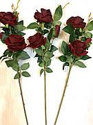 Искусственная Роза имитация натуральной ( ветка 77 см)