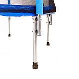 Высококачественный 140 см батут спортивный игровой  с сеткой для детей до 45 кг синий, фото 2