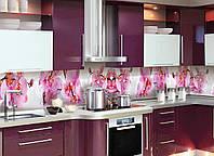 Кухонный фартук Орхидея Сакраменто (фотопечать наклейка на стеновую панель кухни розовые цветы) 600*2500 мм, фото 1