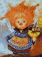 Картина по номерам Babylon Солнечный ангел с пчелой 30 Х 40 см  (VK234)