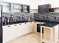Кухонный фартук Весеннее цветение (фотопечать наклейка на стеновую панель кухни цветы вишни) 600*2500 мм