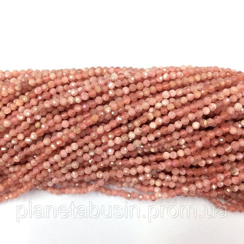 3 мм Родохрозит , Натуральный камень, Форма: Граненый Шар, Длина: 40 см