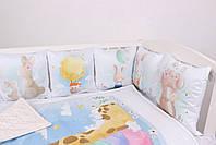 """Комплект в кроватку с панельками """"Радужные животные"""", фото 3"""