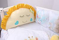 """Комплект в кроватку с панельками """"Радужные животные"""", фото 5"""