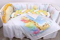 """Комплект в кроватку с панельками """"Радужные животные"""", фото 2"""