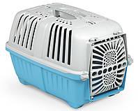 Переноска для животных 48*31.5*33 см MPS PRATIKO 1 BLUE. Дверь пластиковая