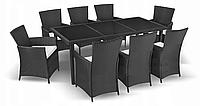 Комплект мебели из техноротанга BAHAMA SET MAX (темное стекло 8 стульев), фото 1