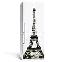 Виниловая наклейка на холодильник Символ Парижа ламинированная двойная (пленка самоклеющаяся, Эйфелева башня), фото 1