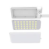 Настольная светодиодная лампа YAGE YG-5951 White аккумулятор 1200 мАч гибкая настольная для офиса дома, фото 2